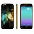 """Stylish Patterned Front + Back Decorative Sticker Set for IPHONE 6 PLUS 5.5"""" - Black + Multicolored"""