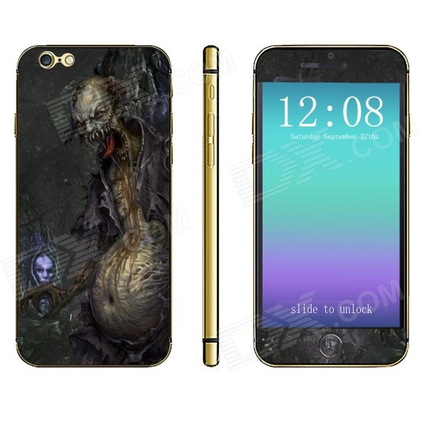 Stylish Demon Pattern Front + Back Decorative Sticker Set for IPHONE 6 PLUS 5.5 - Multicolored
