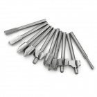 High Speed Steel Woodworking / Carving / Milling Cutter Set - Silvery Grey (10 PCS)
