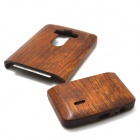 Retro Protective Sapele Wood Back Cover Case for LG G3 - Brown