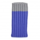 Protective Sock Style Knitting Cover Pouch for IPHONE + Samsung + More - Grey + Purple