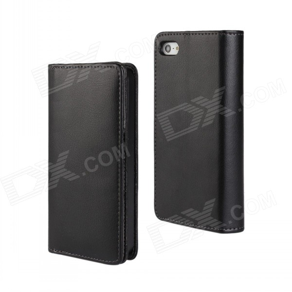 WB-3508 Protective PU Leather Case w/ Card Slot forIPHONE 5 5S - Black кабель сетевой готовый nordost frey 2 4 m