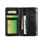 WB-3508 Protective PU Leather Case w/ Card Slot forIPHONE 5 5S - Black