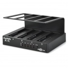 MAIWO K305BU3 4-Bay 1:3 Clone USB 3.0  HDD Docking w/ OTB Backup Function - Black