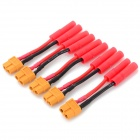 XT60 Female to 4.0mm Bullet Banana Wire Connector / Adapter - Yellow + Red + Multi-Color (5 PCS)