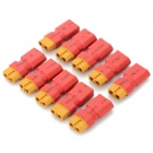 T Plug XT60 Male to Female Connector for R/C Model - Red + Yellow (10 PCS)