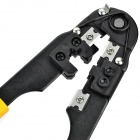 LODESTAR L213008 Plastic + Chromium Alloy 8Pin Network Cable Crimping Plier - Black + Yellow