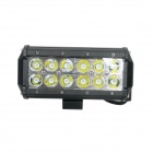 GLK-C036S 36W 2520lm 6000K White Light Spot Beam 12-LED Work Light Bar for Car / Boat