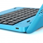Portable Bluetooth v3.0 59-Key teclado caso w / Stand para IPAD MINI 3 - Azul