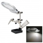 Lodestar L316358 3X Optical Glass Magnifier w/ 4-LEDs + Clips - Black + Silver (3 x AAA)