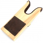 AJ30004 Wood + Leather Shoe Remover / Taking-off Tool - Black + White