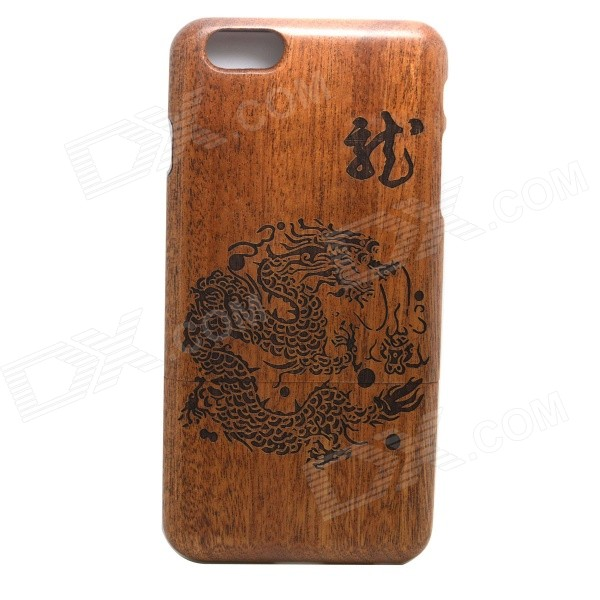 LS-I6 Chinese Dragon Pattern Detachable Protective Wooden Back Case for IPHONE 6 PLUS проводной и dect телефон gigaset c810a siemens c810aip