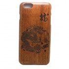 LS-I6 Chinese Dragon Pattern Detachable Protective Wooden Back Case for IPHONE 6 PLUS