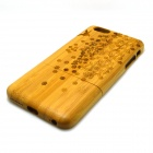 Spring Scenery Pattern Detachable Protective Bamboo Back Case for IPHONE 6 PLUS - Yellow