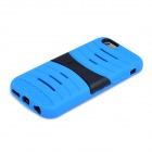 2-in-1 Protective Silicone + PC Back Case w/ Holder for IPHONE 6 - Blue + Black