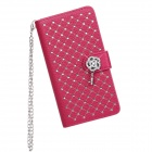 WB-LGG2M Stylish Protective Flip-Open PU Leather + PC Case w/ Stand / Card Slots for LG Optimus G2