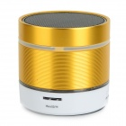 Tragbare Bluetooth V2.1 Mini Speaker w / TF / FM / Mini-USB / 3,5 mm - Weiß + Gold