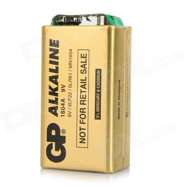 Gp 1604a non rechargeable 6lf22 9v piles alcalines or - Pile 9v rechargeable ...