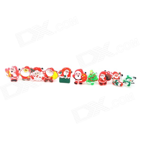 Adjustable Christmas Luminous Flashing Ring Decoration (10pcs / 3 x AG)