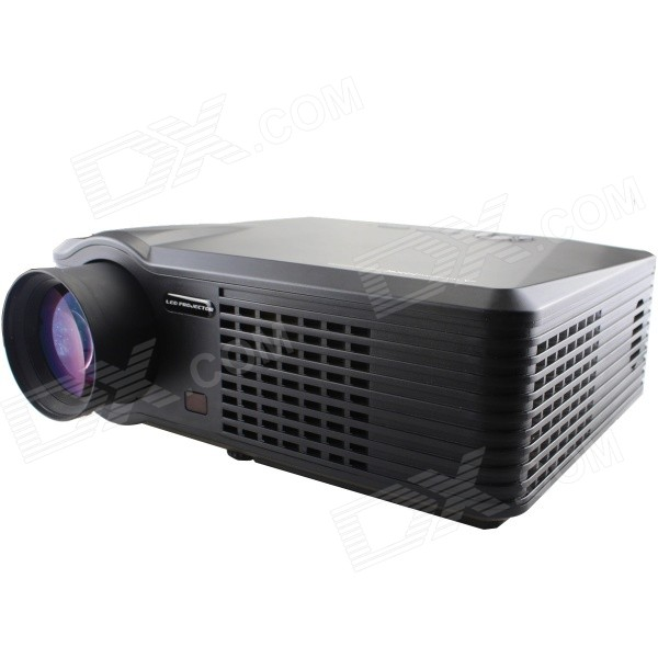 MO.MAT G700 1080P Full HD 30~320 LED Projector w/ HDMI / VGA / YPbPr / S-VIDEO / TV / USB - Black