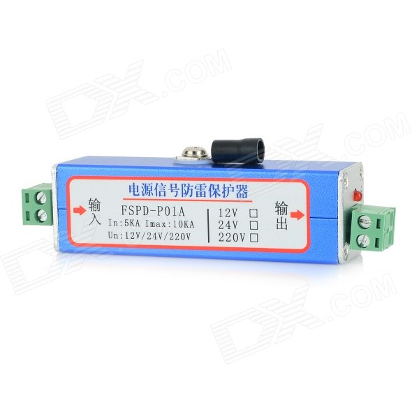 FSPD-P01A Power Signal Thunder Surge Protector Lightning Arrester - Blue недорого
