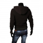 A66 Heren Herfst / Winter Wear Slim Velvet-achtige Hooded Sweater - Zwart (XL)