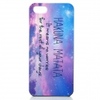 Ancient Proverb Pattern Protective PC Back Case for IPHONE 5 / 5S - Purple + Multicolor