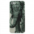 Elephant Pattern Protective PC Back Case for IPHONE 5 / 5S - White + Green
