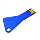 Key Shaped USB2.0-Flash-Grive - Blau (8GB)