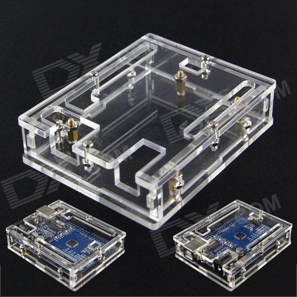цены Acrylic Case Enclosure Box for Arduino UNO R3 - Transparent