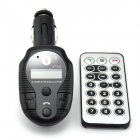 "1"" LCD Bluetooth V2.1 Handsfree Car Kit w/ MP3 Player / FM Transmitter / A2DP - Black"