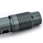 Rechargeable Electric Auto-Zooming 1000lm 3-Modes Cool White LED Flashlight - Grey (1 x 18650)