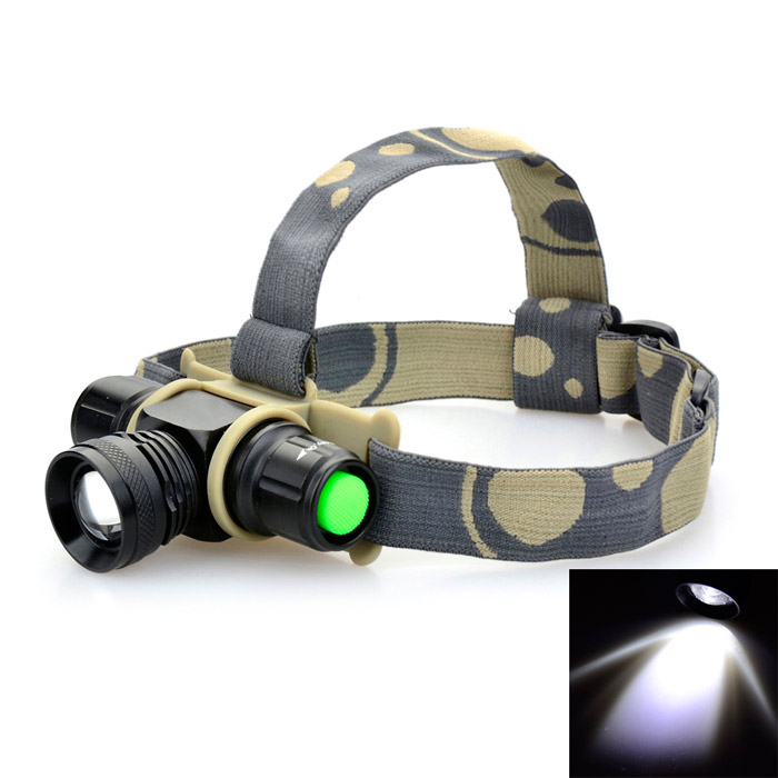 Multifunction 10W 900lm 2-Mode LED Cool White Light Headlamp w/ Cree XM-L (1 x 18650)