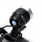 10W Outdoor 800lm 3-Mode Cold White Light LED Headlamp - Black (2 x 18650 Included)