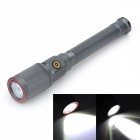 Outdoor Auto-Zooming 900lm 3-Mode Cool White LED Flashlight - Grey (2 x 18650)