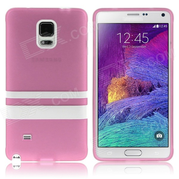 Hat-Prince Protective TPU Soft Case for Samsung Galaxy Note 4 N9100 - Pink + White enkay quick sand style protective plastic back case for samsung galaxy note 4 n9100 blown
