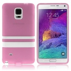 Hat-Prince Protective TPU Soft Case for Samsung Galaxy Note 4 N9100 - Pink + White