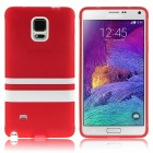 Buy Hat-Prince Protective TPU Soft Case Samsung Galaxy Note 4 N9100 - Red + White