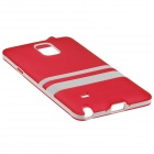 Hat-Prince Protective TPU Soft Case for Samsung Galaxy Note 4 N9100 - Red + White