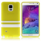 Hat-Prince Protective TPU Soft Case for Samsung Galaxy Note 4 N9100 - Yellow + White