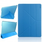 ENKAY Multi-folding Auto Sleep & Wake Up Designed Protective Case w/ Stand for IPAD AIR 2 - Blue