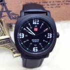 Men's Military Style Analog Quartz Wrist Watch - Black (1 x SR626SW)