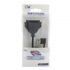 "CY U3-120-LE 90 Degree Left Angled USB 3.0 to SATA 22-Pin 2.5"" Adapter Cable - Black"