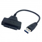 "CY U3-180 5Gbps Super Speed USB 3.0 to Micro SATA 7+9 16-Pin 1.8"" Drive Adapter Cable - Black"