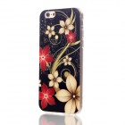 "Floral & Plants Pattern Protective TPU Back Case Cover for IPHONE 6 4.7"" - Black + Brown + Red"