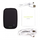 T400 Universal QI Wireless Charger w/ 4000mAh Power Bank for IPHONE 5 / Nokia Lumia 920 - Black