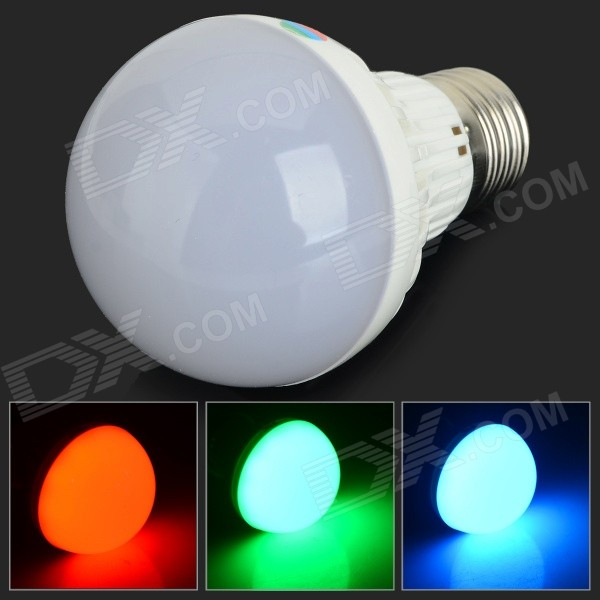 JRLED E27 5W 260lm 10-SMD 5050 LED RGB Light Bulb - White + Silver (AC 220V)