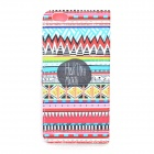 Stylish Patterned Protective Flip-Open PU Case w/ Stand / Card Slot for IPHONE 6 PLUS - Multicolor