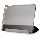 Protective 3-Fold PU + Plastic Case w/ Stand for IPAD AIR 2 - Black