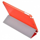 Protective 3-Fold PU + Plastic Case w/ Stand for IPAD AIR 2 - Red